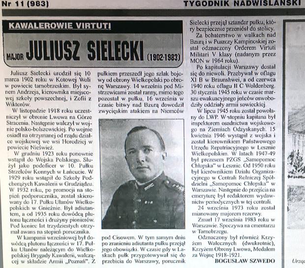 Juliusz Sielecki Ułan 1902 1983 Od 1932 17 pułk Gniezno #Gniezno 17 #pułkułanów