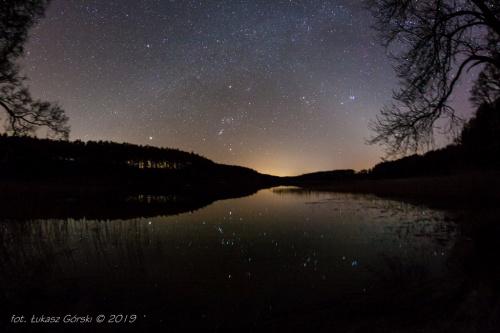 Światło zodiakalne na pożegnanie zimowego nieba #gwiazdy #światło #zodiakalne #astro #foto #pejzaż