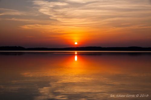 Kwietniowy zachód słońca #zachód #słońca #jezioro #Pomorze #Chojnice