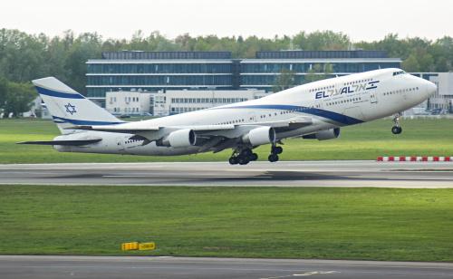 Jumbo - Jet Izraelskich Linii Lotniczych El Al jak co roku odwiedza nas z okazji marszu żywych odbywającego się na południu Polski.