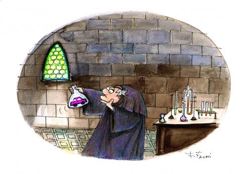 Zycie w Średniowiecznym Zamku : alchemik