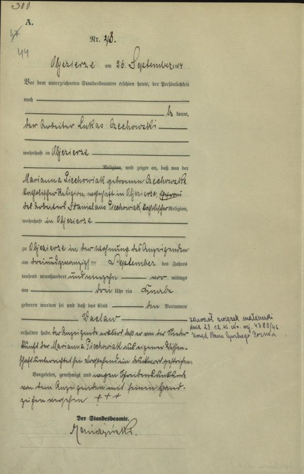 1914 U Piechowiak Wacław
