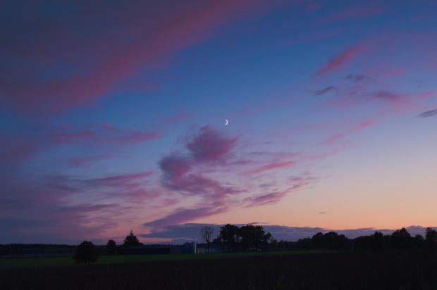 tuż po zachodzie słońca