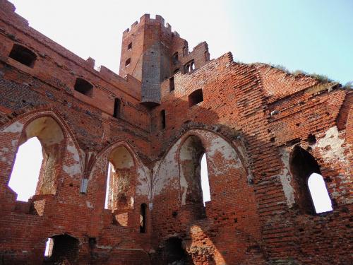 ruiny zamku w Radzyniu podziwianie widoku