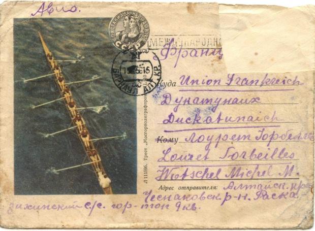Koperta z listu do Michel Wotschel