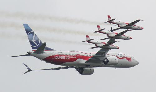 Formacja samolotów - Radom Air Show 2018