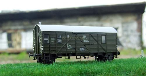 Wagon brankard dla obsługi pociągu towarowego. Brankard włączany był do pociągu tuż za lokomotywą. #Braknard #Katowice #Muchowiec