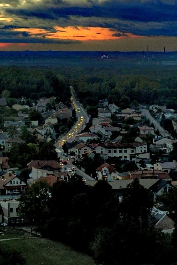 Olsztyn, widok w kierunku Częstochowy