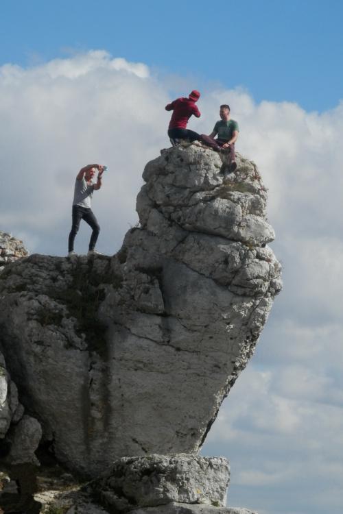 No to pstryk! ...na skałach Góry Zamkowej w Olsztynie