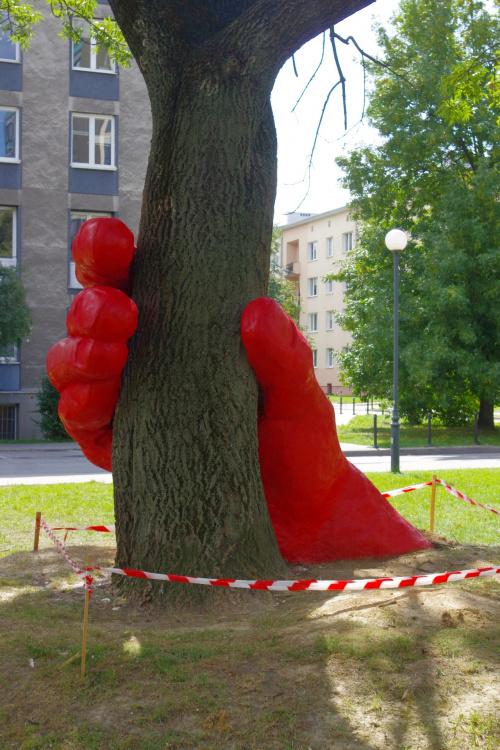 ta instalacja to protest przeciw wycince drzew