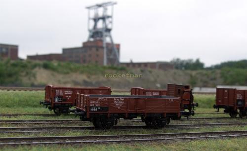 Węglarki parku kolei Górny Śląsk z okresu międzywojennego wykonane w skali H0 H0 #Górny #Śląsk #wagon #węglarka