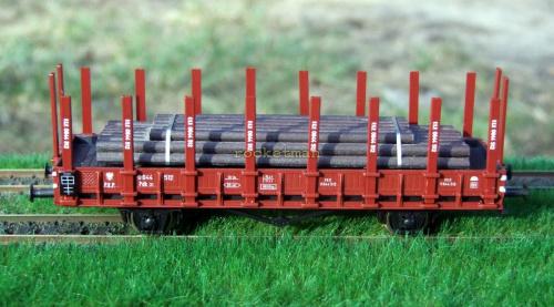 Wagon platforma zarządzu kolei PKP wraz z ładunkiem. Epoka III. Skala 1:87 H0 #Wagon #platforma H0 #PKP