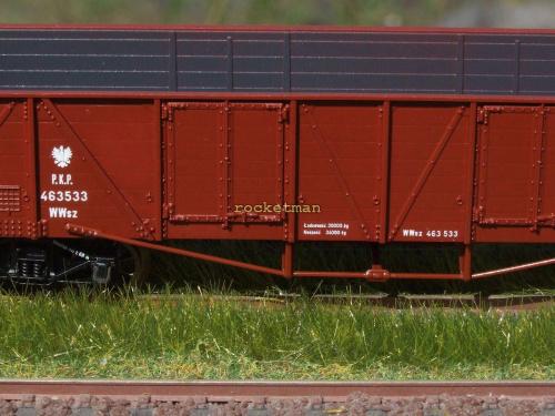Model wagonu towarowego P.K.P. węglarki budowy amerykańskiej. Skala 1:87 H0. Epoka II. Konwersja rocketman. #Wagon #węglarka #USTC #UNRRA H0 #PKP