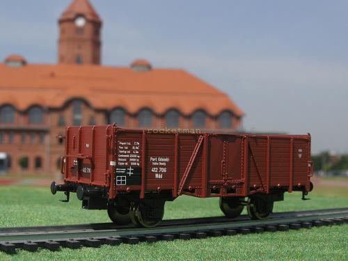 Model wagonu węglarki bezhamulcowej w zarządzie Wolnego Miasta Gdańska. Skala 1:87 H0. Epoka II. Konwersja rocketman. #Wagon #węglarka #Wolne_Miasto_Gdańsk #H0