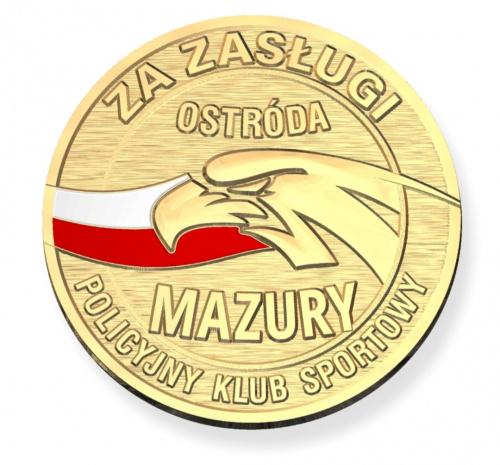 Policyjny klub sportowy mazury pksmazury ostroda medal zloty za zaslugi
