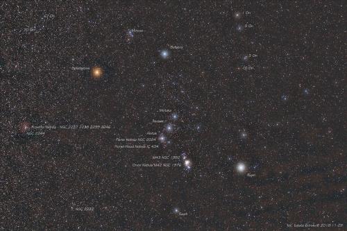 Orion - zimowe niebo. #Orion #gwiazdy #noc #astro #astrofoto #zimowe #niebo