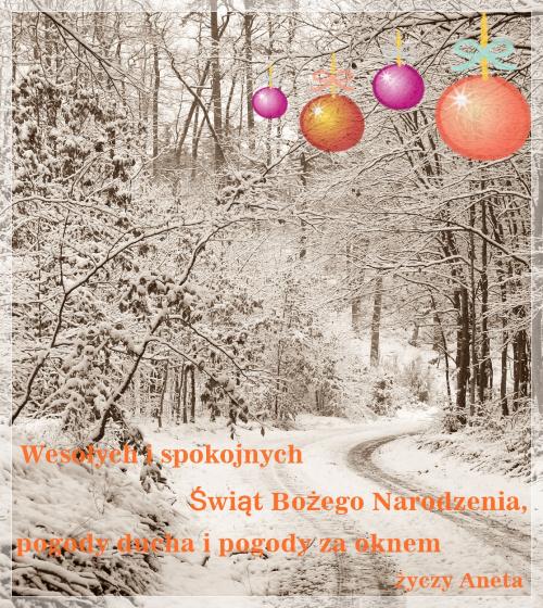 Z okazji nadchodzących Świąt...